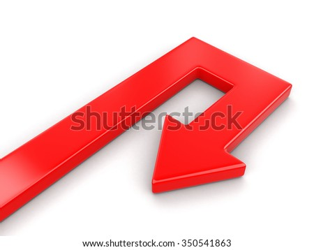 3d Arrow back (clipping path included)