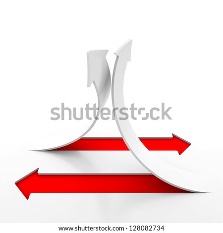 3d arrow background