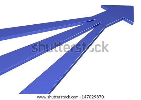 3D Arrows - Blue - stock photo