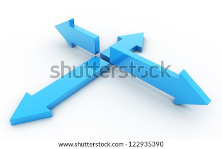 3d arrows in white background