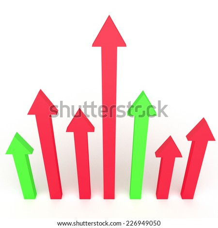3d arrows infographics design for business growth concepts. - stock photo