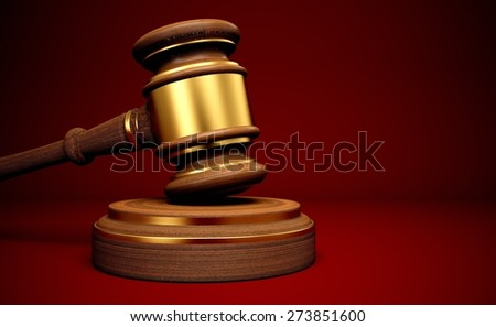 3D. Auction, Law, Gavel.