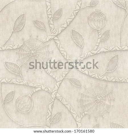 3d  background,  floral ornament ,  seamless - stock photo
