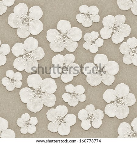 3d  background,  flowers on the wall,  seamless - stock photo