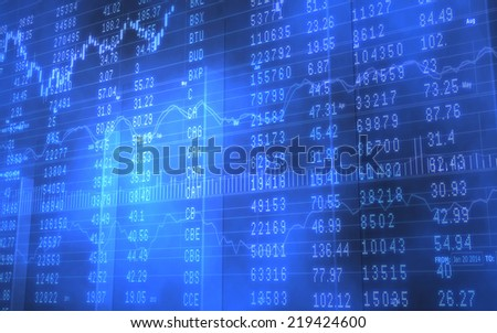 3D Background image of a business stock market chart with data - stock photo