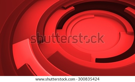 3d background made of rotated but not closed tube shapes - stock photo