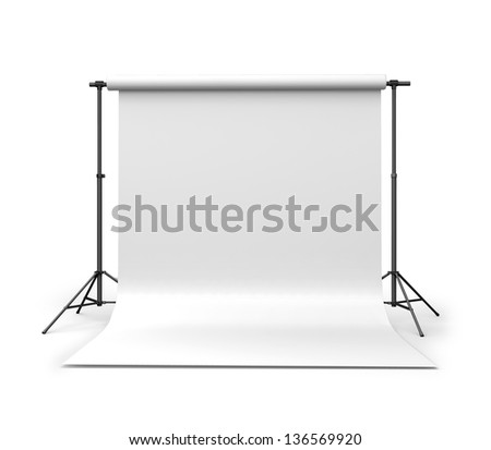 3d Background paper in photo studio - stock photo