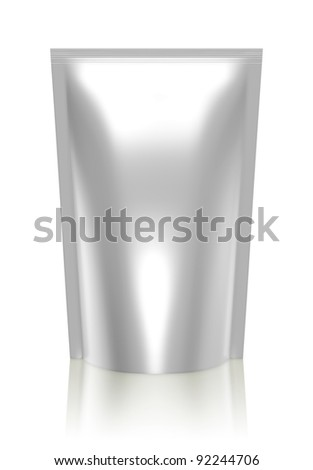 3D bag package - stock photo
