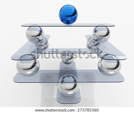 3D. Balance, Leadership, Sphere. - stock photo