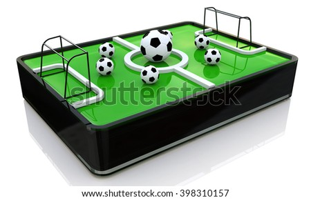 3d ball on the football field - 3D rendered illustration