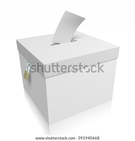 3D ballot box - great for topics like presidential/ parliamentary election.