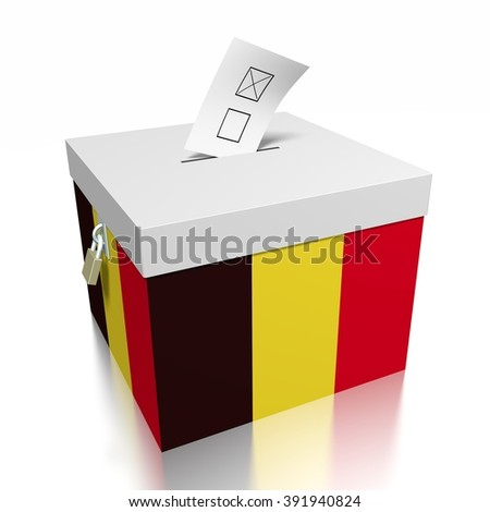 3D ballot box - great for topics like presidential/ parliamentary election in Belgium.