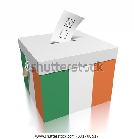 3D ballot box - great for topics like presidential/ parliamentary election in Ireland.