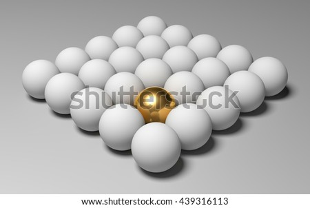 3D balls abstract composition on a gray background