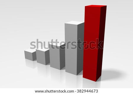 3D bar growth chart - great for topics like financial data/report.