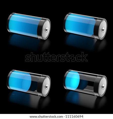 3D Battery with 4 states of charge level