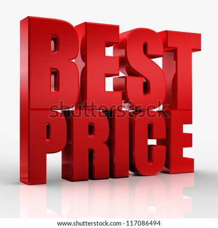3D best price - stock photo