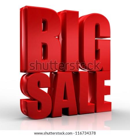 3D big sale - stock photo