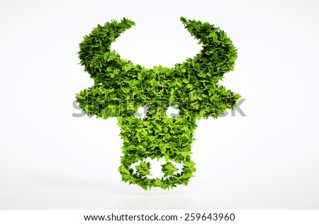3d bio beef sign. One of larger set of high quality ecology symbols. Check my ecology set. - stock photo
