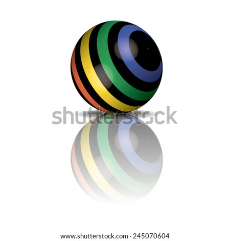 3d black ball - stock photo