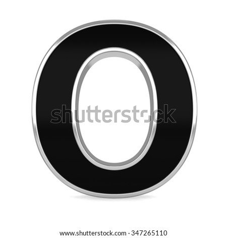 3d black metal alphabet letter Z frame isolated on white background