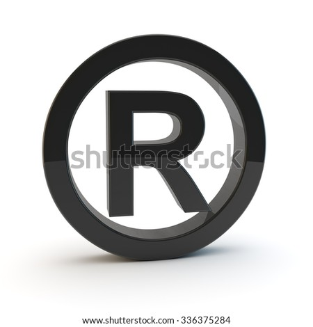 3d black trademark symbol - stock photo
