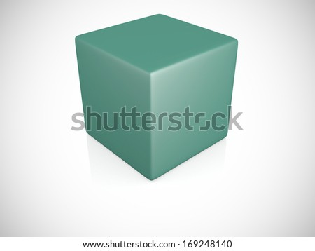 3d blank box on white background - 3d render - stock photo