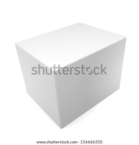3d Blank box on white background. With space for your text and picture  - stock photo