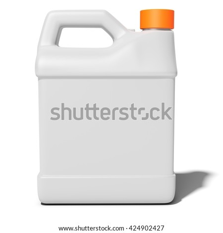 3d blank container, canister, jug on white background 3D illustration