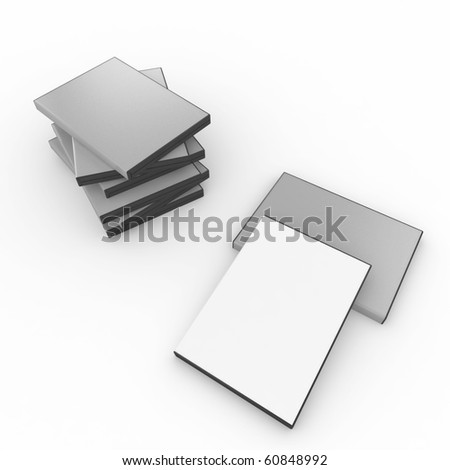 3d blank dvd box isolated on white - stock photo