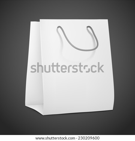 3d blank shopping bag isolated on black background