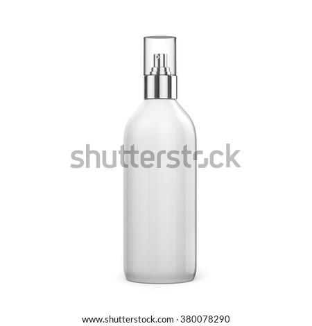 3d blank spray bottle on white background - stock photo