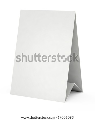 3d blank white form - stock photo