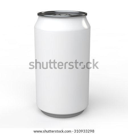3d blank white soda can