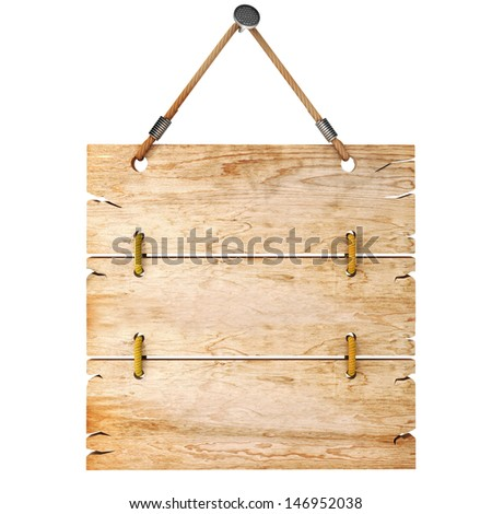 3d blank wooden sign board