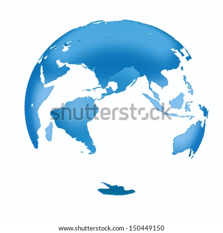 3D blue Earth Structure styled
