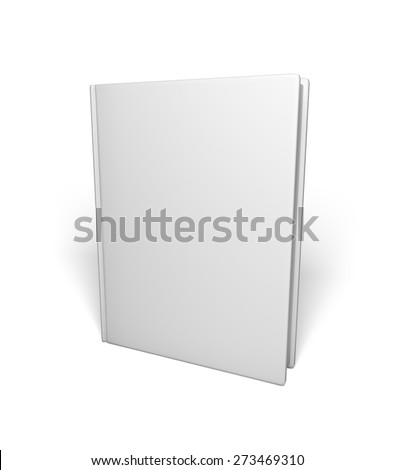 3D. Book, Blank, Book Cover. - stock photo