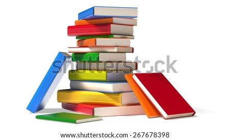 3D. Book, Education, Library. - stock photo