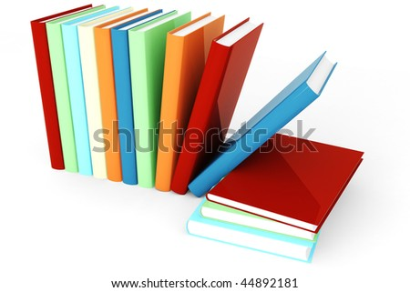 3d books in many colors