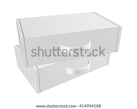 "3d box carton, briefcase packaging for heavy products handle in isolated white background.   "" 3d illustration"""