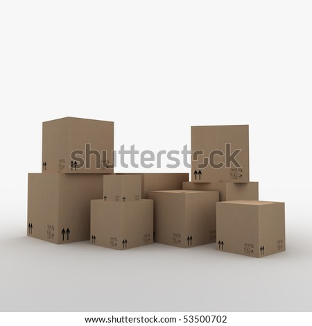 3D Boxes - stock photo