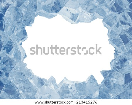 3 D Broken Blue Ice Background Rectangle Stock Illustration ...