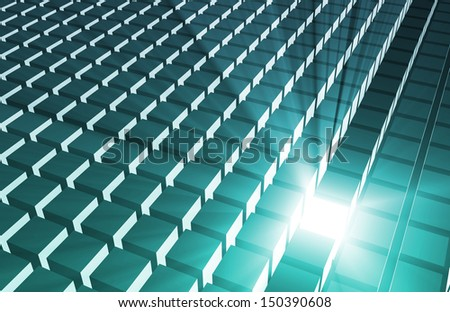 3D Business Background as Leadership Concept Abstract - stock photo