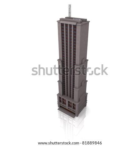 3d business building - stock photo