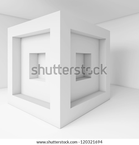 3d Business Card Background - stock photo