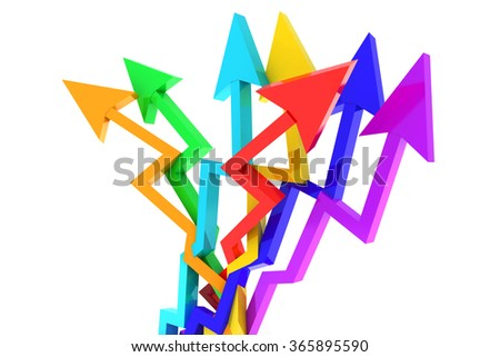3D business chart abstract is showing us growth. Great usage for business abstracts and business concepts. - stock photo