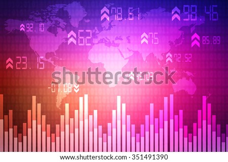 2d business graph background