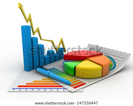 3d business growth graph