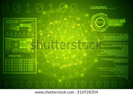 2d business network background