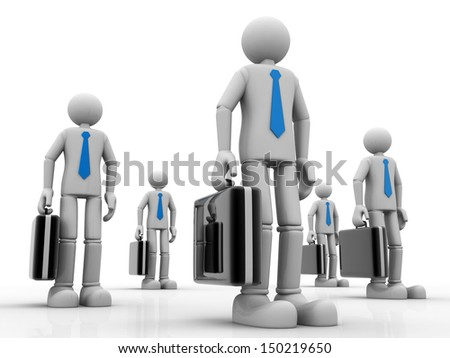 3D Business team - isolated over a white background